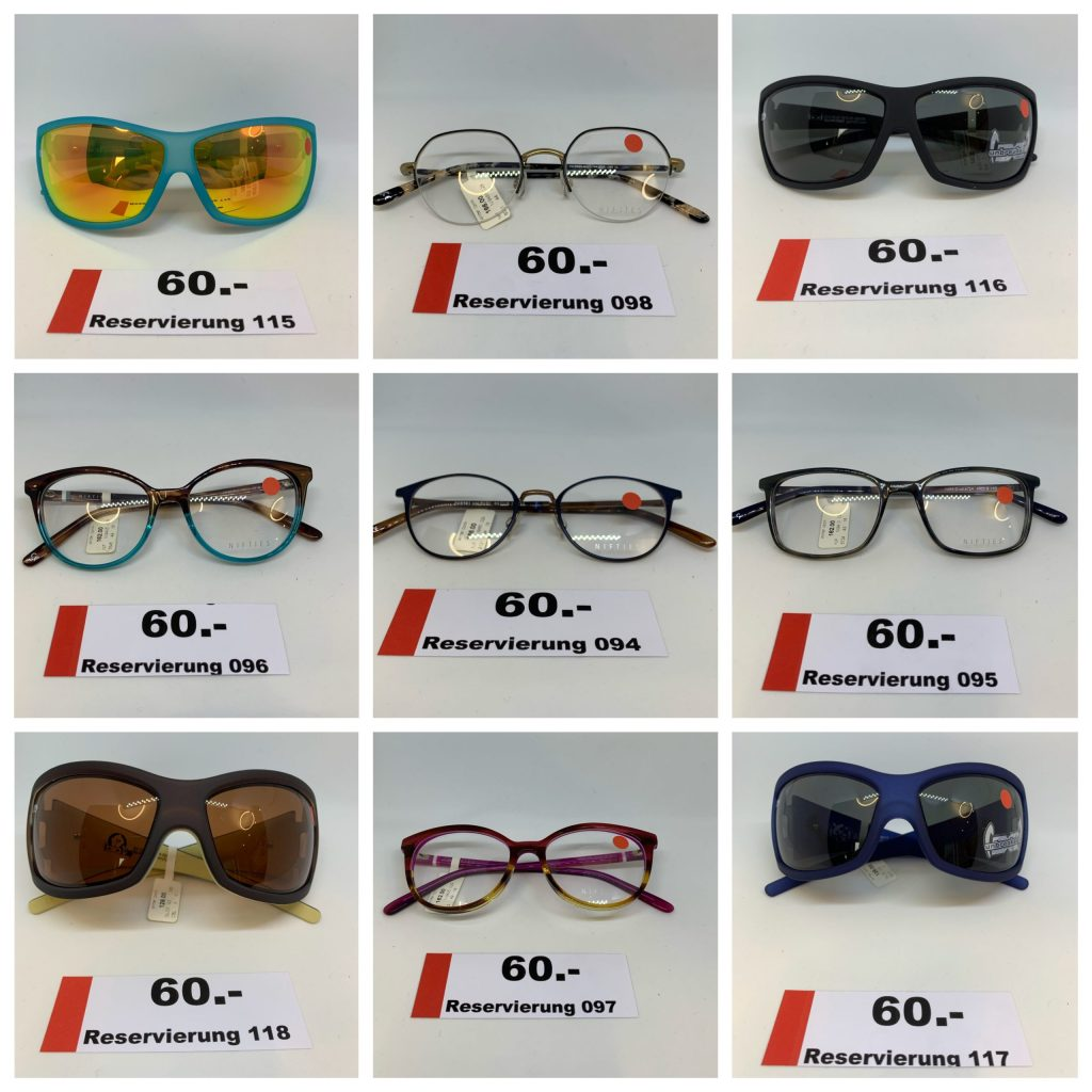 Wittels Sale de Lux Brillenfassungen und Sonnenbrillen Abverkauf
