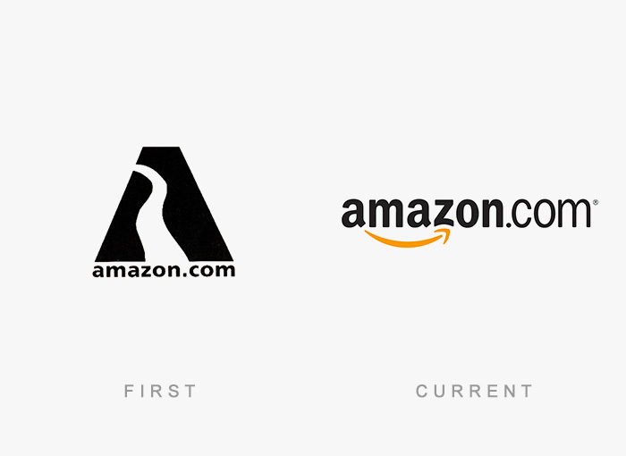 Amazon old and new logo