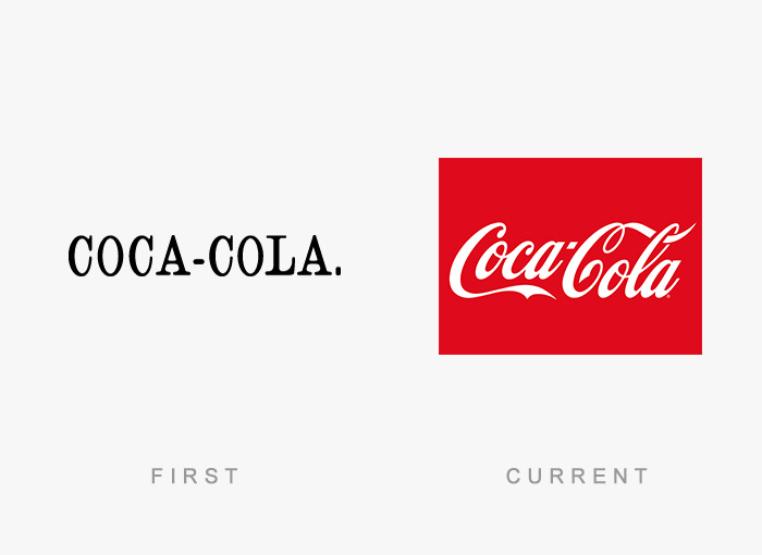 Coca Cola old and new logo
