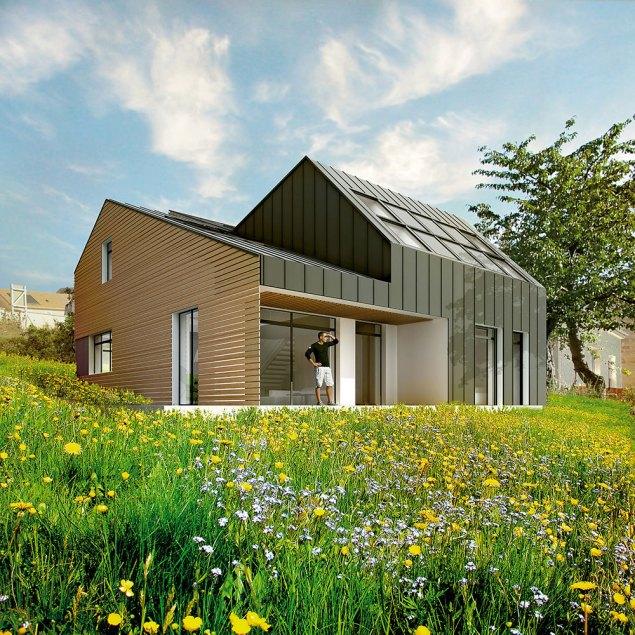 domy aktywne, domy przyszłości, Maison-lumerie VELUX