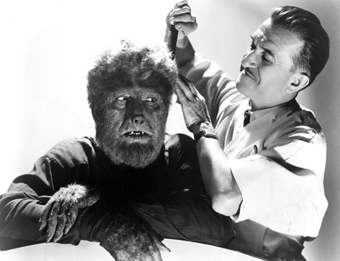 Lon Chaney, Jr undergoing species reassignment surgery.