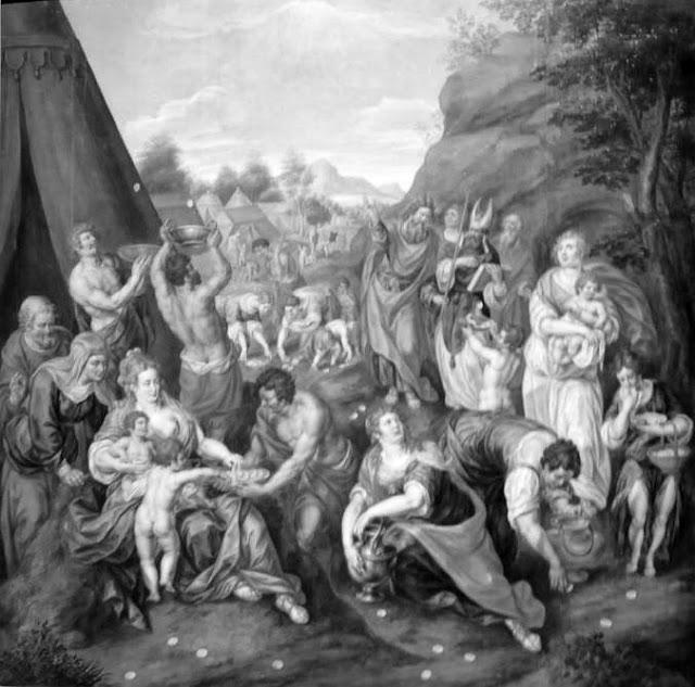 Clerck_Israelites_gathering_Manna