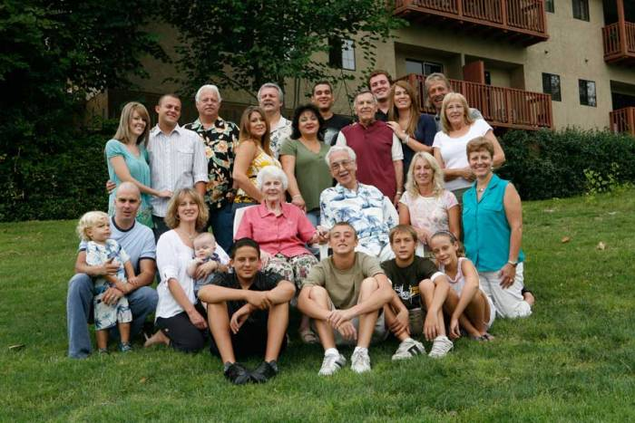 The Family on the Occasion of Mary's 75th Birthday