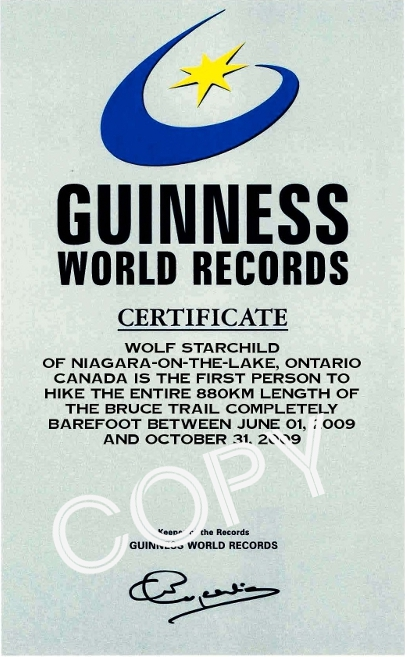 Wolfmaan Guinness World Record Certificate