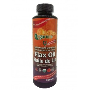 GoldTop - Organic Flax Oil - 250ml-500x500