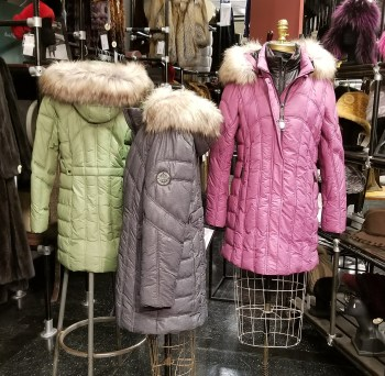 poly filled jackets fake fur tirm