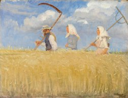 Anna Ancher, Harvesters, 1905, Oil on canvas, 17 ⅛ x 22 ⅛ in.; Skagens Museum