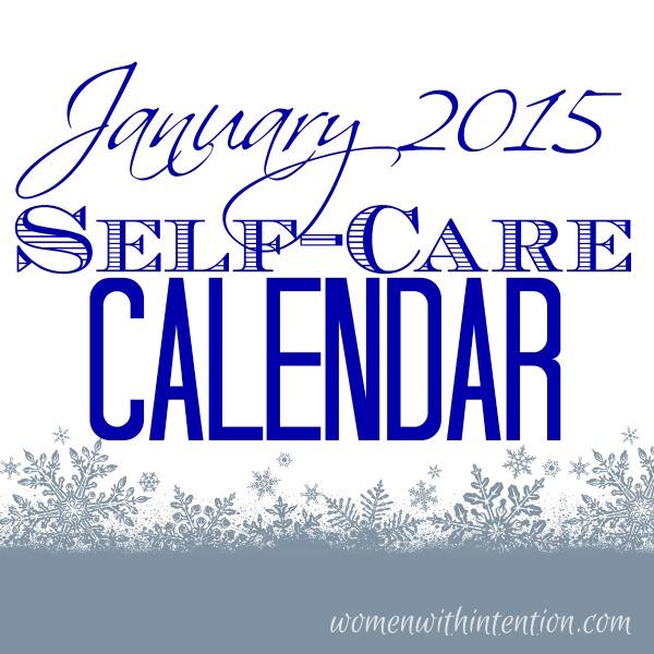 January 2015 Self-Care Calendar