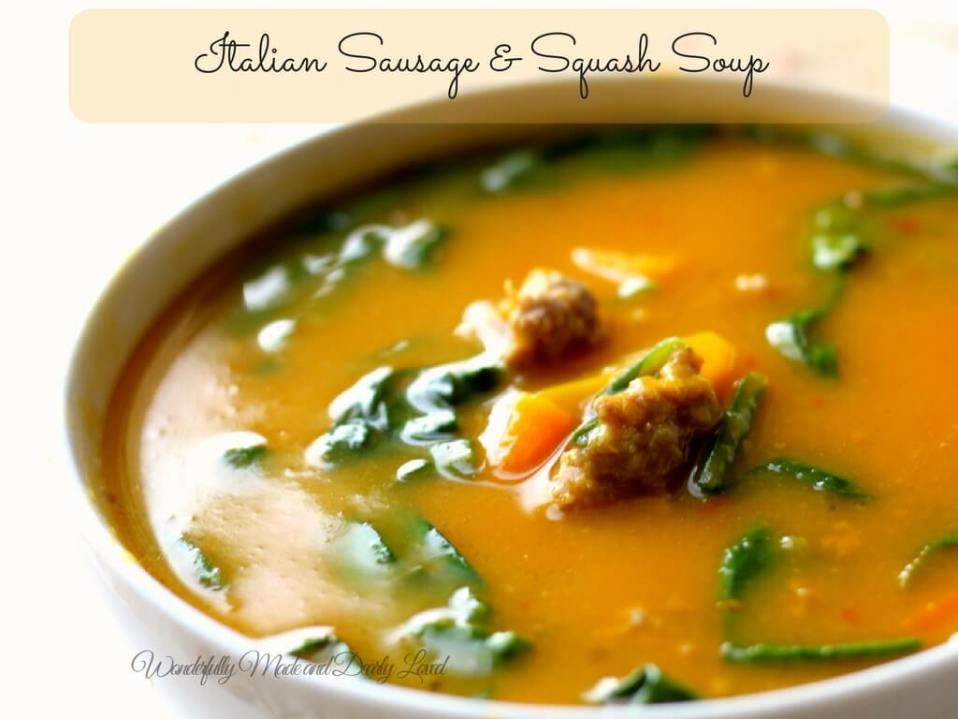 Italian Sausage & Squash Soup (THM S helper)