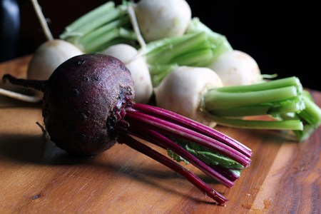 Turnips with Beet