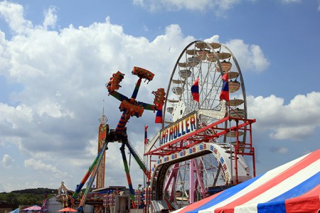 Midway rides at the Maryland State Fair 2013