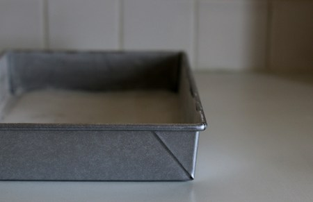 Baking pan ready for action