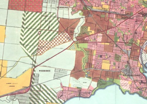 Melbourne Metropolitan Planning Scheme 1954, Derrimut cross country railway
