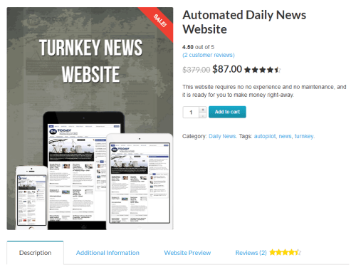 Get your own automated news website