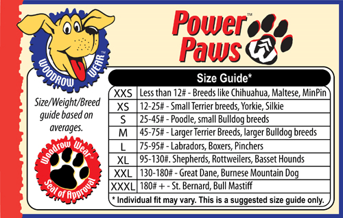 Sizes for Non Slip Dog Socks