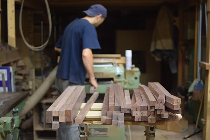 小さな木の椅子『ピコチェア』製作中