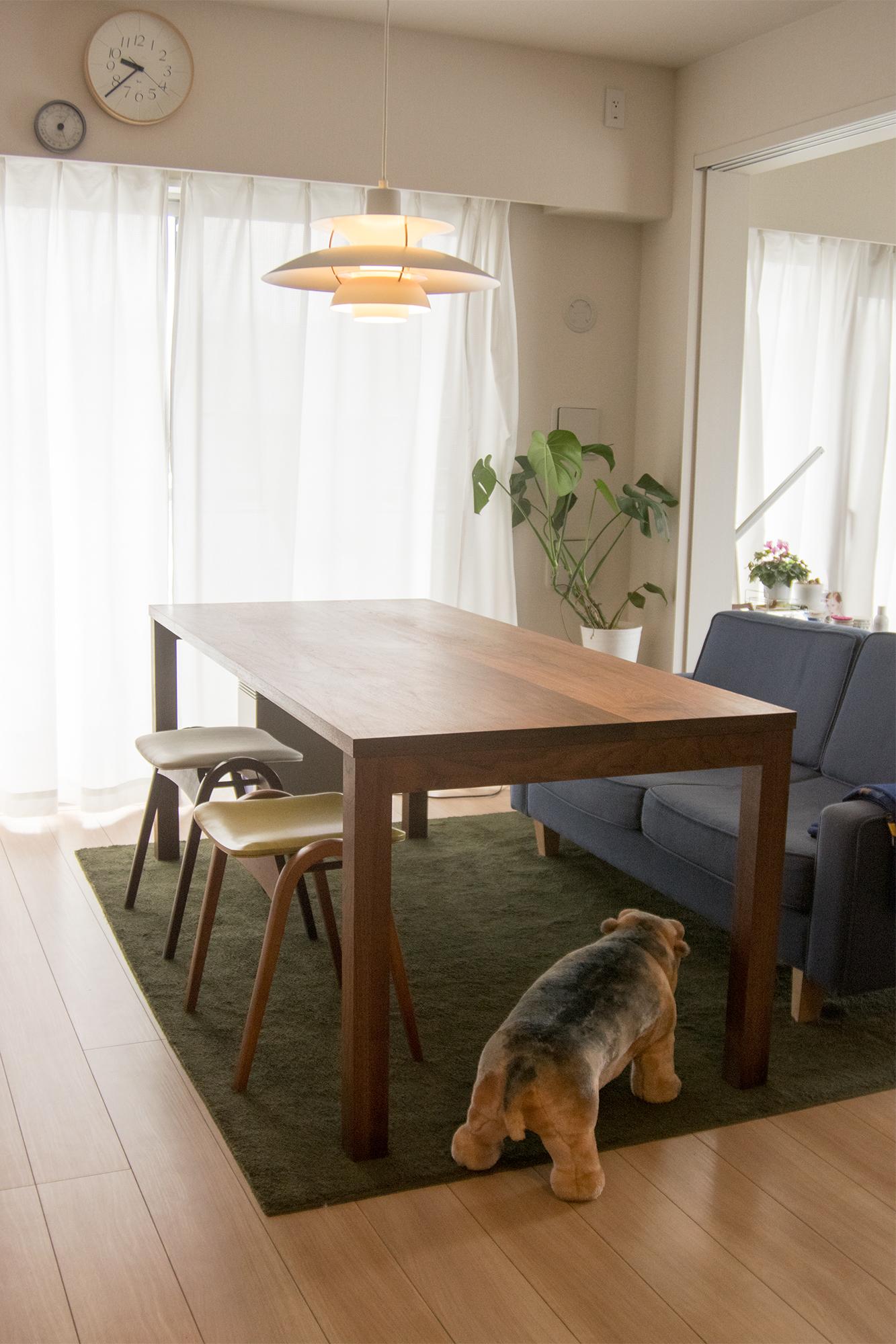 無垢ウォールナット材テーブル