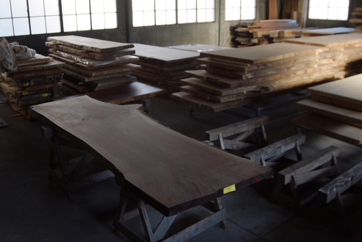町屋 倉庫 SO-KO 開放日 無垢 天板 一枚板 テーブル