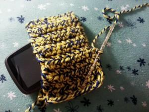 Pochette au crochet pour mon GPS - handbag in crochet for my GPS (3)