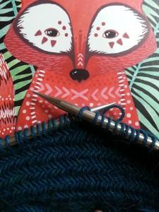 Knitting Herringbone stitch cowl (4)
