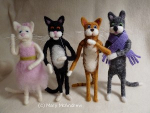 6.5 inch Cats, all fully poseable