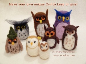 Make your own unique owl to keep or give.