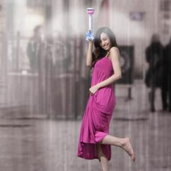 Invisible umbrella