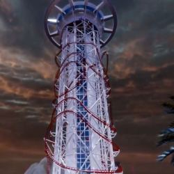 Skyscraper - world's tallest Roller Coaster new video