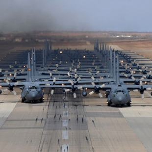 C-130 Hercules in a massive Elephant Walk