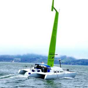 Wind-powered Commuter Ferry works like a racing boat