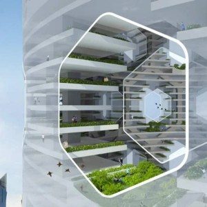 Futuristic Vertical City for the Middle East