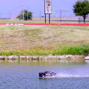 RC car is so fast it can move on water