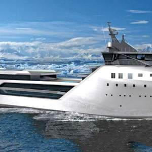 Luxury Yacht converted from a Container ship