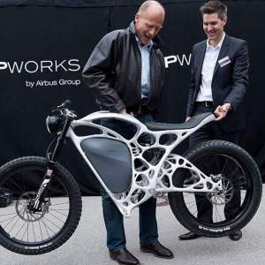 Airbus unveils 3D-printed electric motorcycle