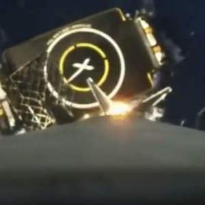 SpaceX First-stage landing from Onboard camera