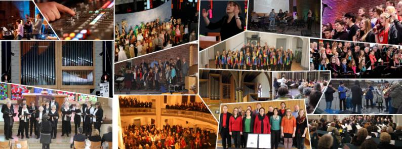 Collage Kirchenmusik
