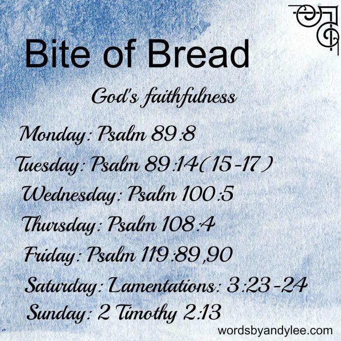Bite of Bread God's Faithfulness