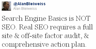 Alan Bleiweiss, Forensic SEO Consultant