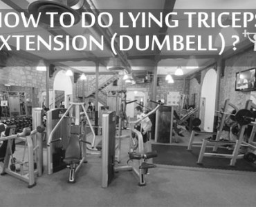 how to do lying triceps extension