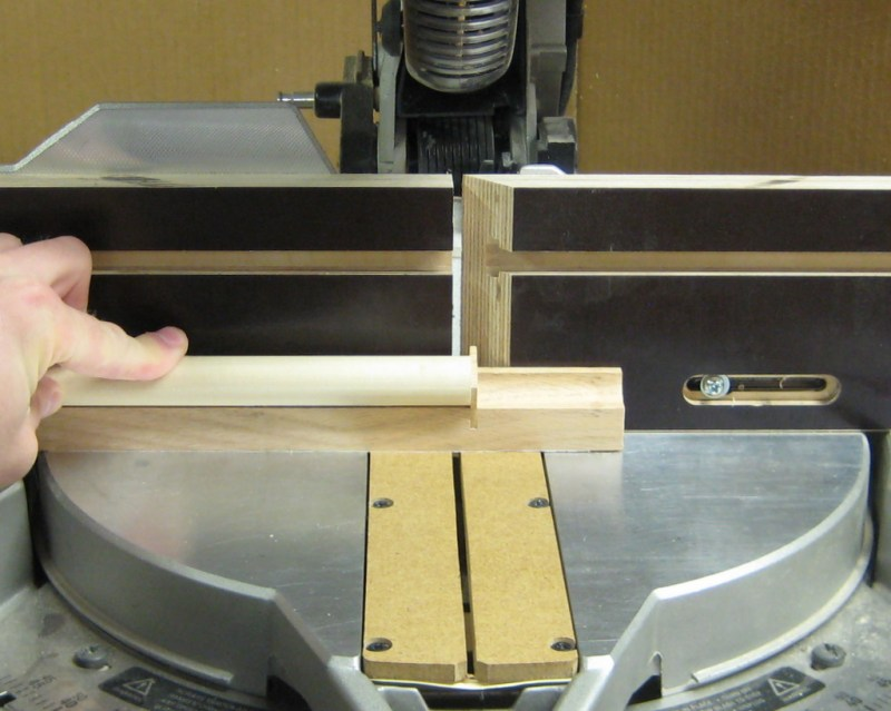 Using the wheel cut-off jig