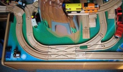 Finished crossover track in use