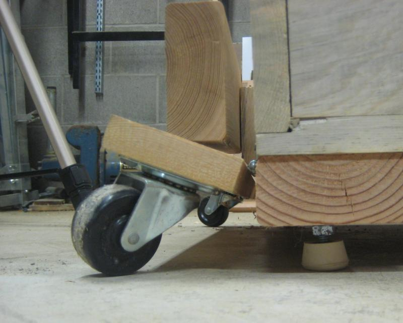 13) Wheels up resting on legs