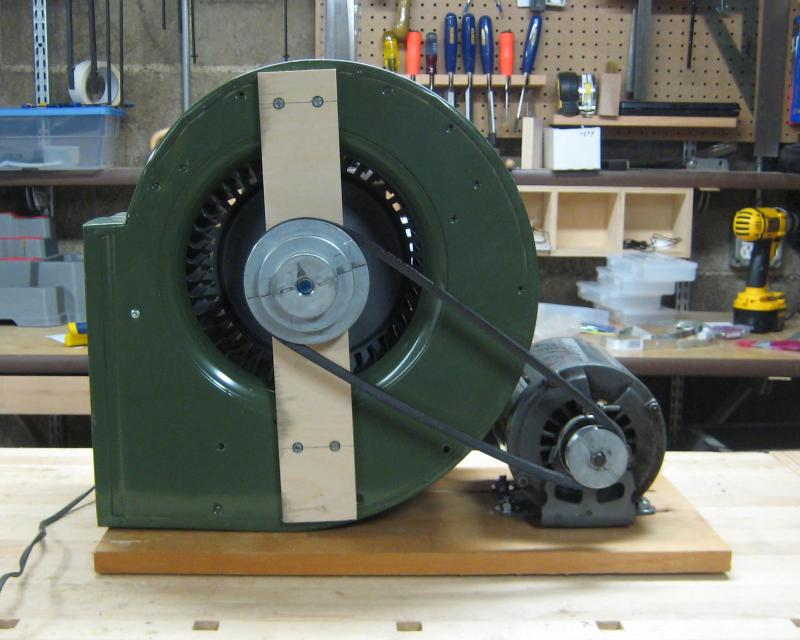 2) Motor and Blower mounted