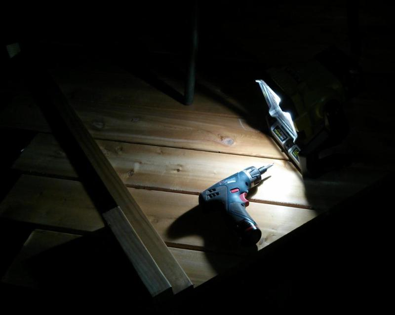 20 - Finishing trimming the deck boards in the dark