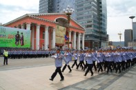 Sukhbaatar Square Marching