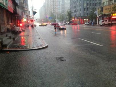 Torrential downpour...