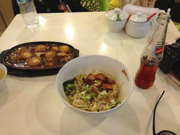 Quick noodle dinner
