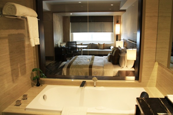 Gran Melia Jakarta View from Bathroom
