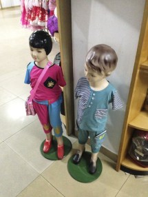 Retro mannequins in the souvenir shop