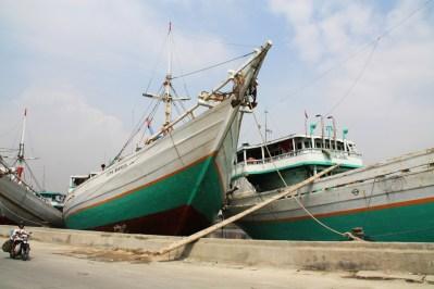 Sunda Kelapa Ships Green